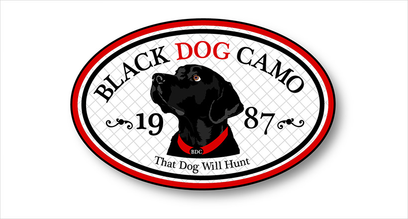 Black Dog Camo Logo Design
