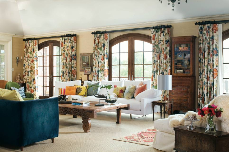20+ Living Room Curtain Designs, Decorating Ideas | Design ...