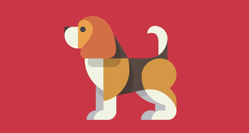 Beagle Puzzle Dog Logo