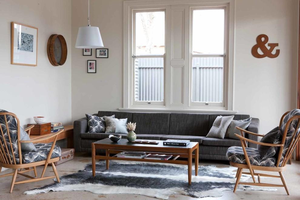 classic narrow living room design