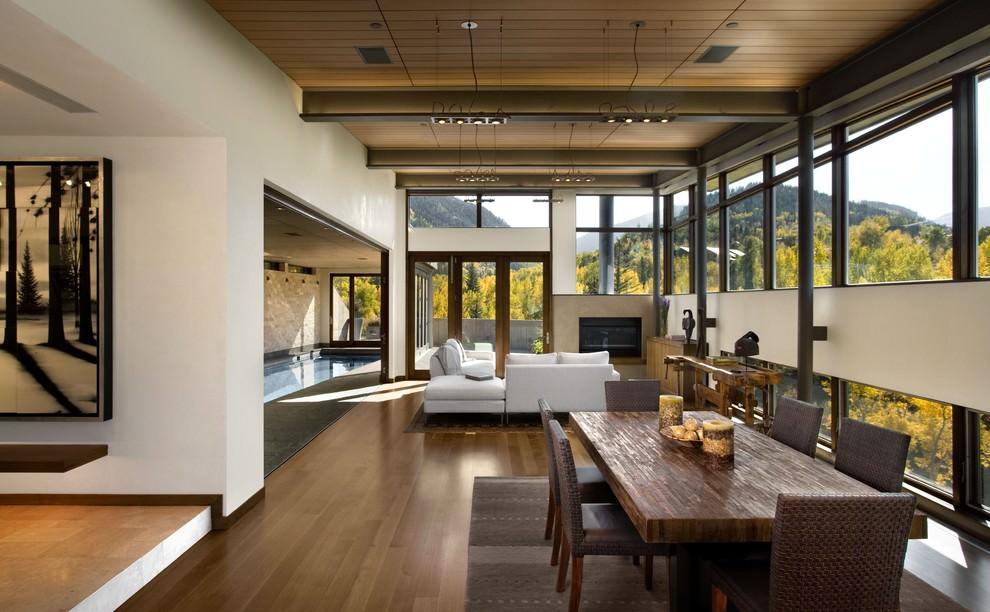 rustic narrow living room design