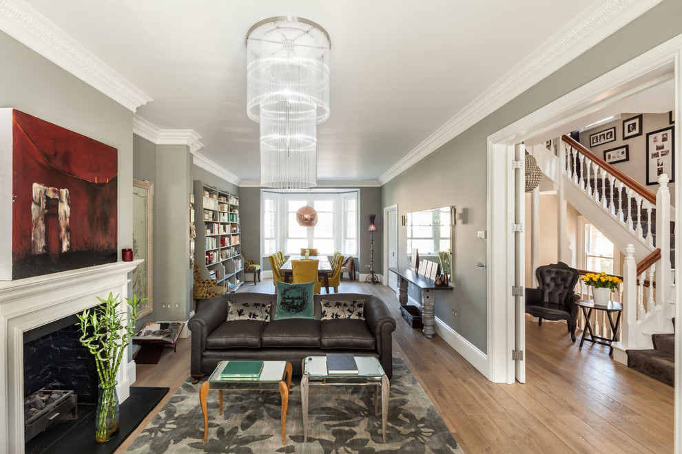 Fashionable Narrow Living Room Design