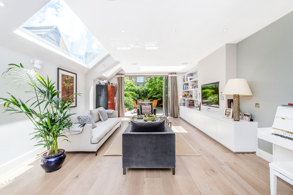 beautiful narrow living room