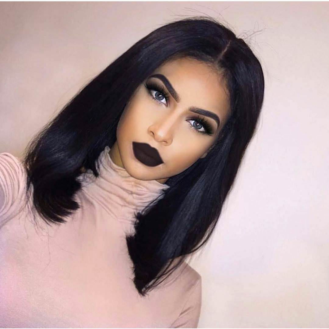 Black Medium Length Hairstyle