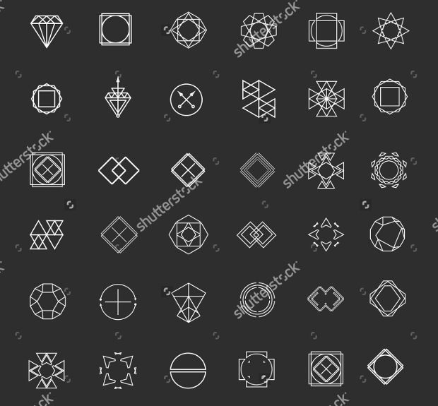 Abstract Hipster Logo Template
