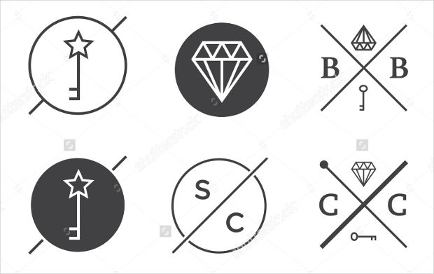 Vector Outline Hipster Logo