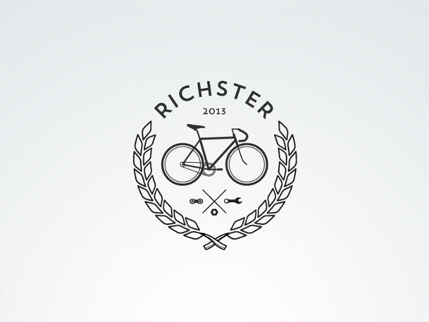 Hipster Bike Logo Design