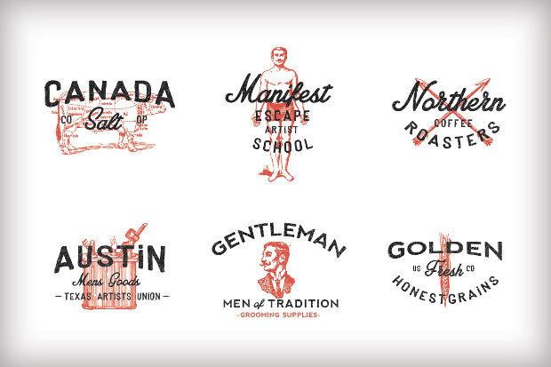 Free Hipster Americana Logos
