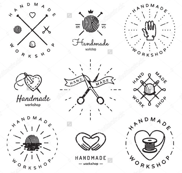 Hipster and Retro Style Logos