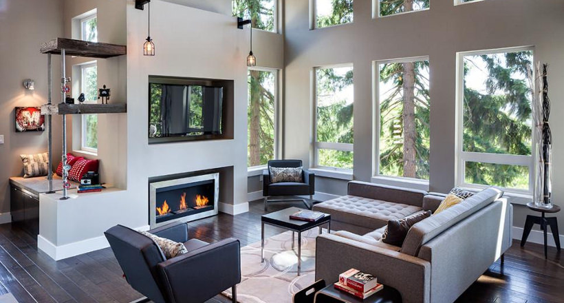 20+ Living Room Fireplace Designs, Decorating Ideas | Design Trends ...