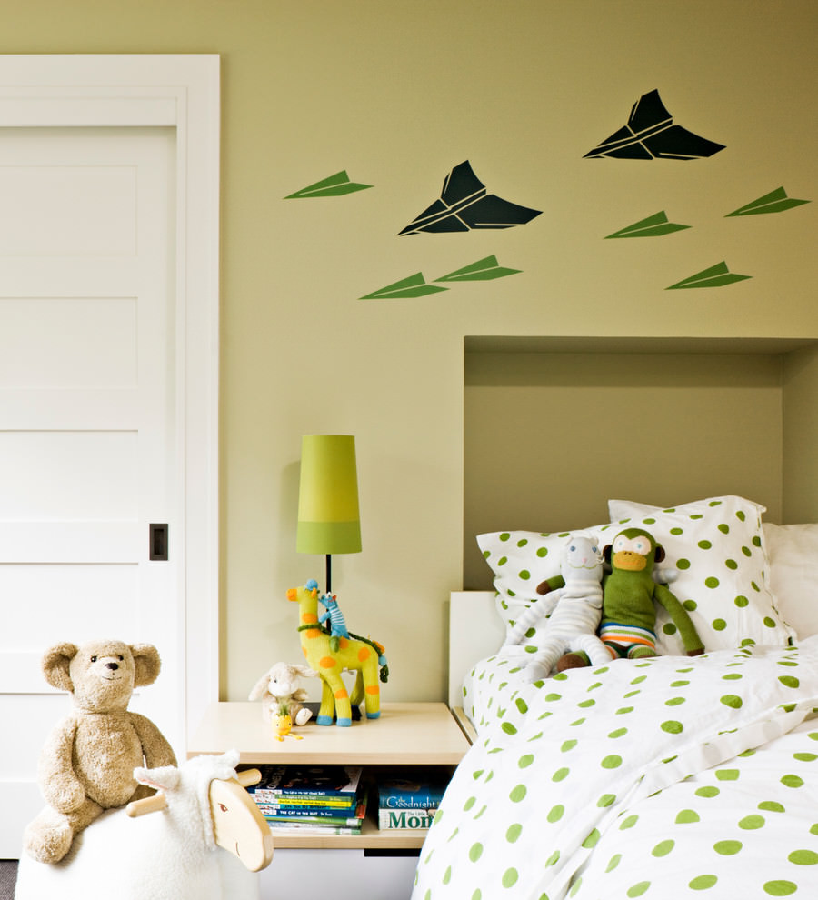 charming wall design for kids room