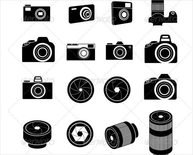 camera lens icons