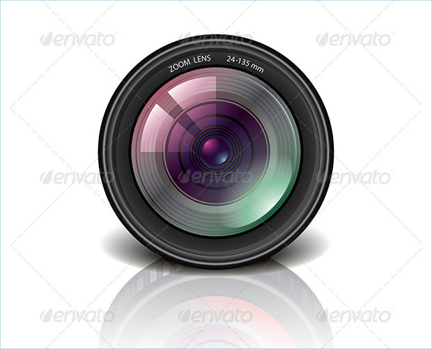 Vector Camera Lens Icons
