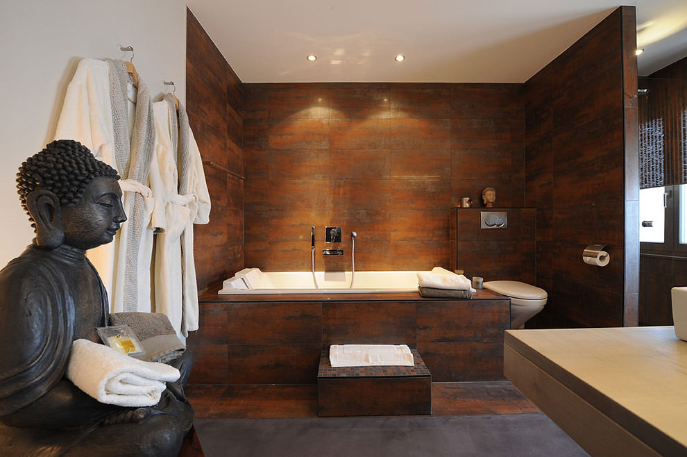 Attirant Tranquil Spa Bathroom Design
