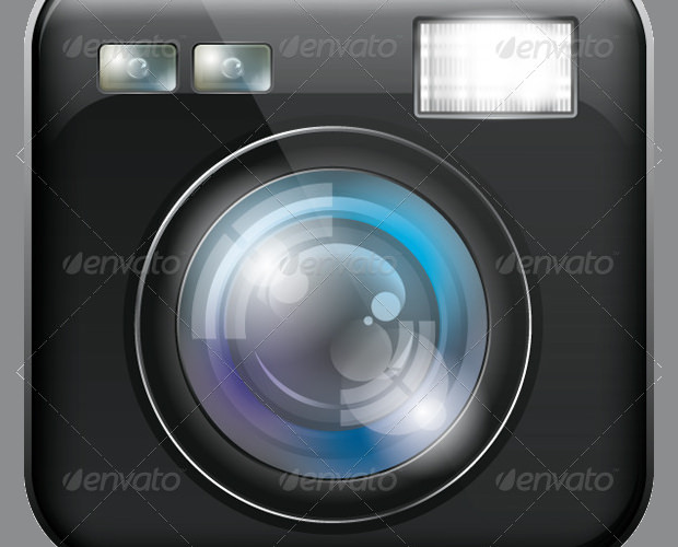 App Icon with Camera Lens