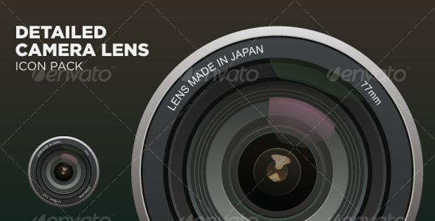 digital camera lens icon