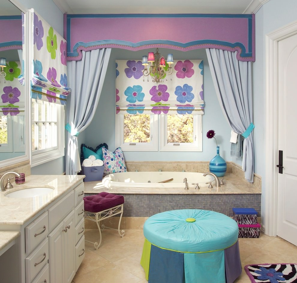 decorative purple bathroom design
