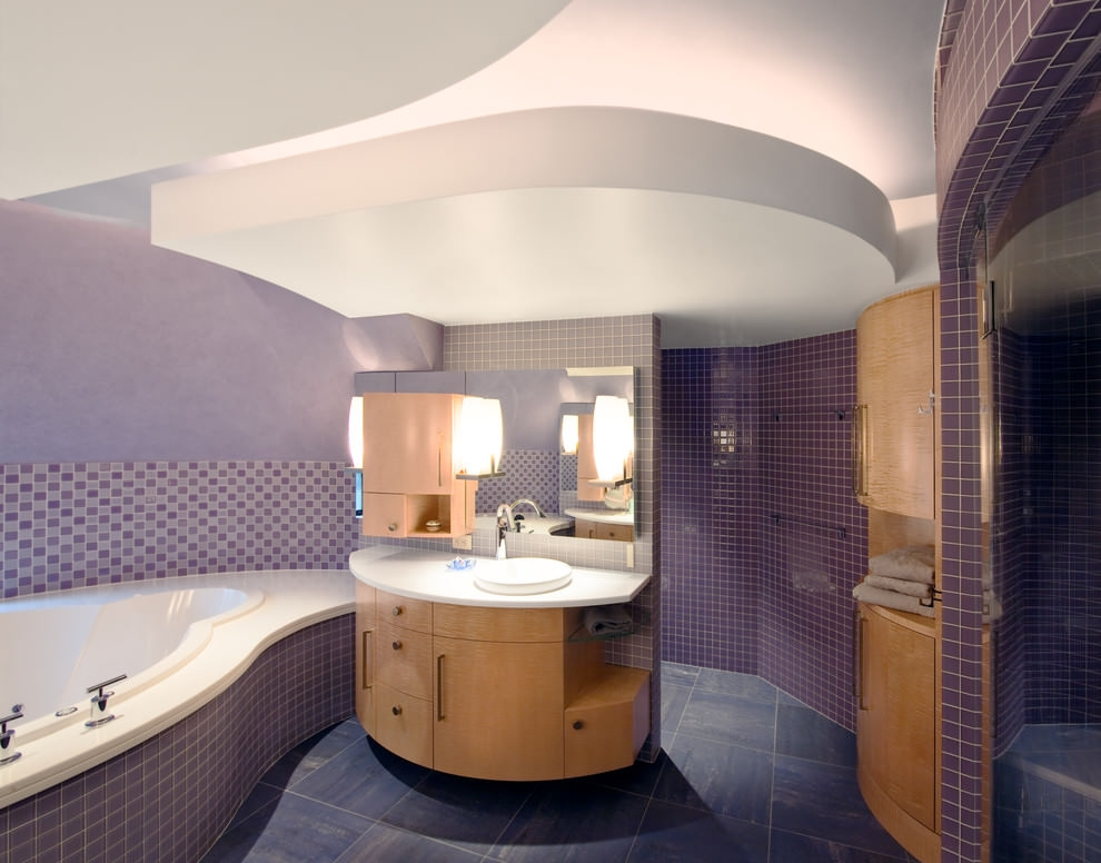 Classic Purple Bathroom Design