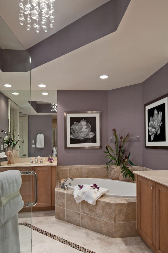 Contemporary Purple Bathroom Design