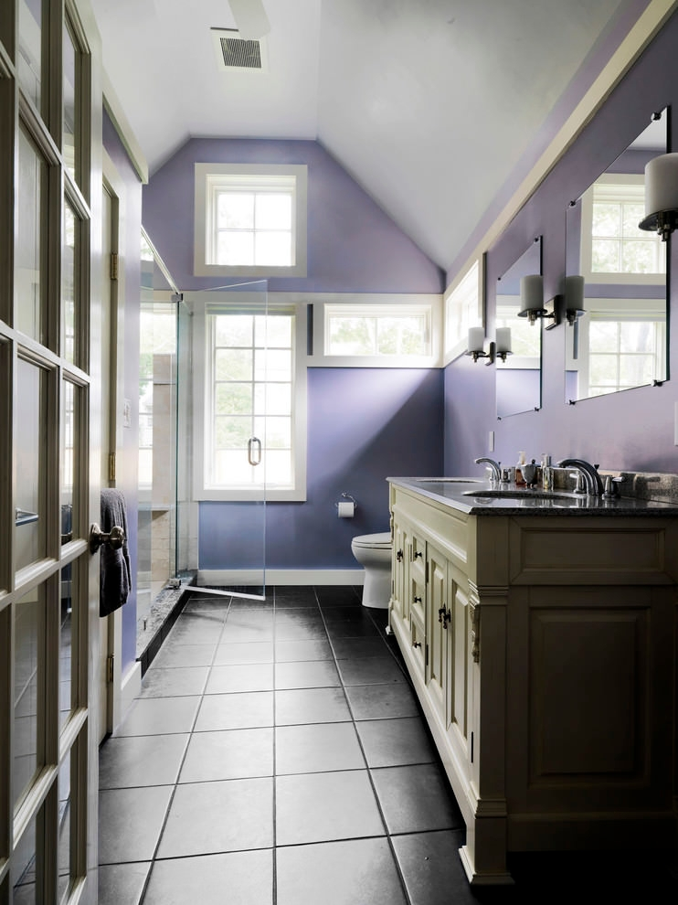 23 Purple Bathroom Designs Decorating Ideas Design