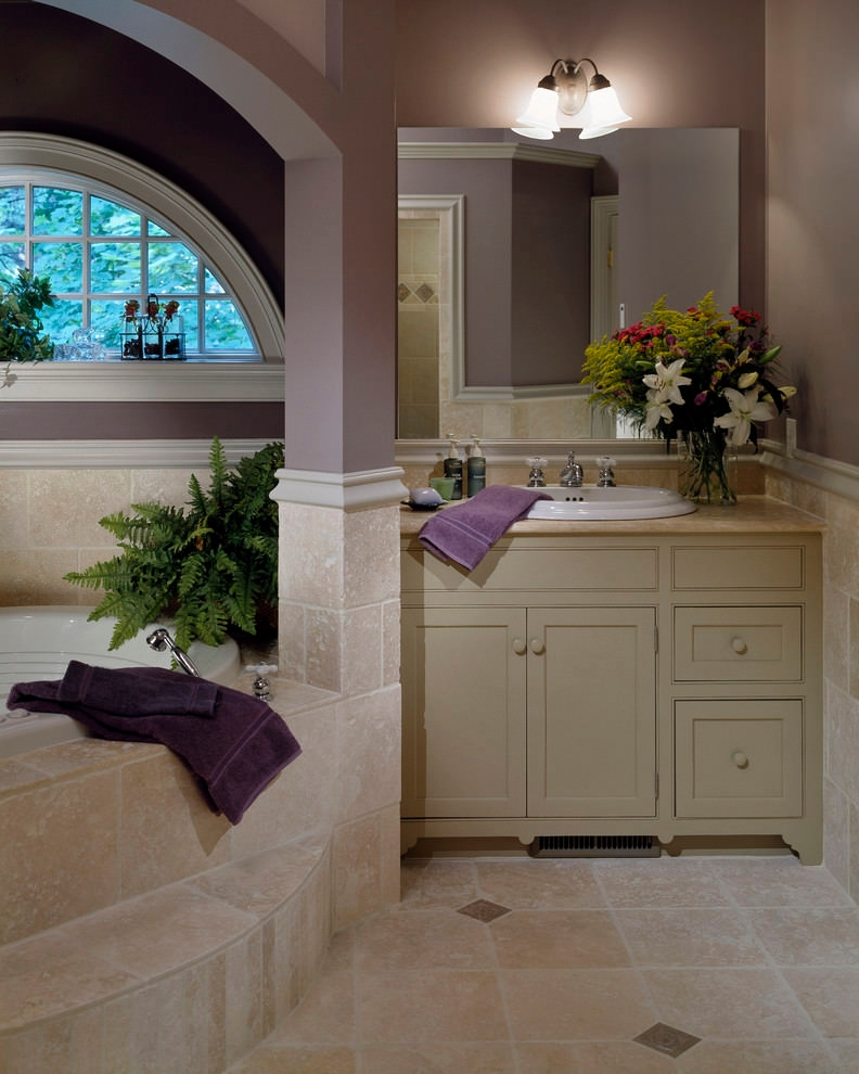 Traditional Purple Bathroom Design