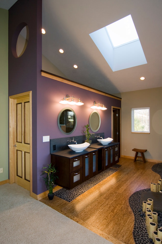 Well Purple Bathroom Design