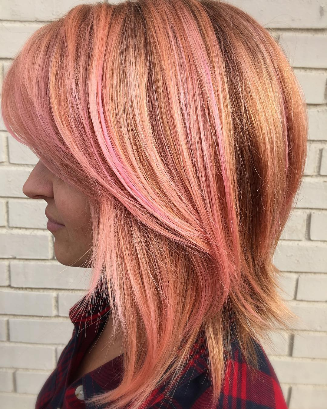 rose golden hair style