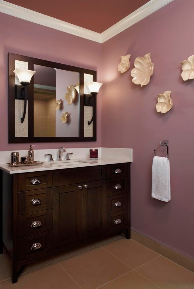 light purple shade bathroom design