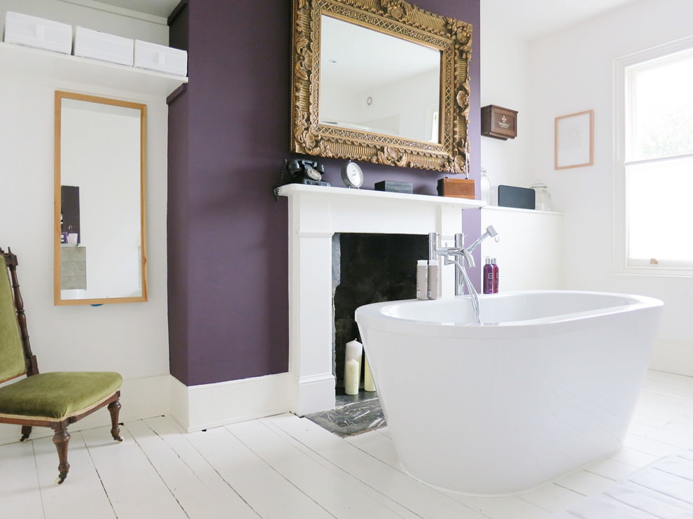 Royal Purple Master Bathroom