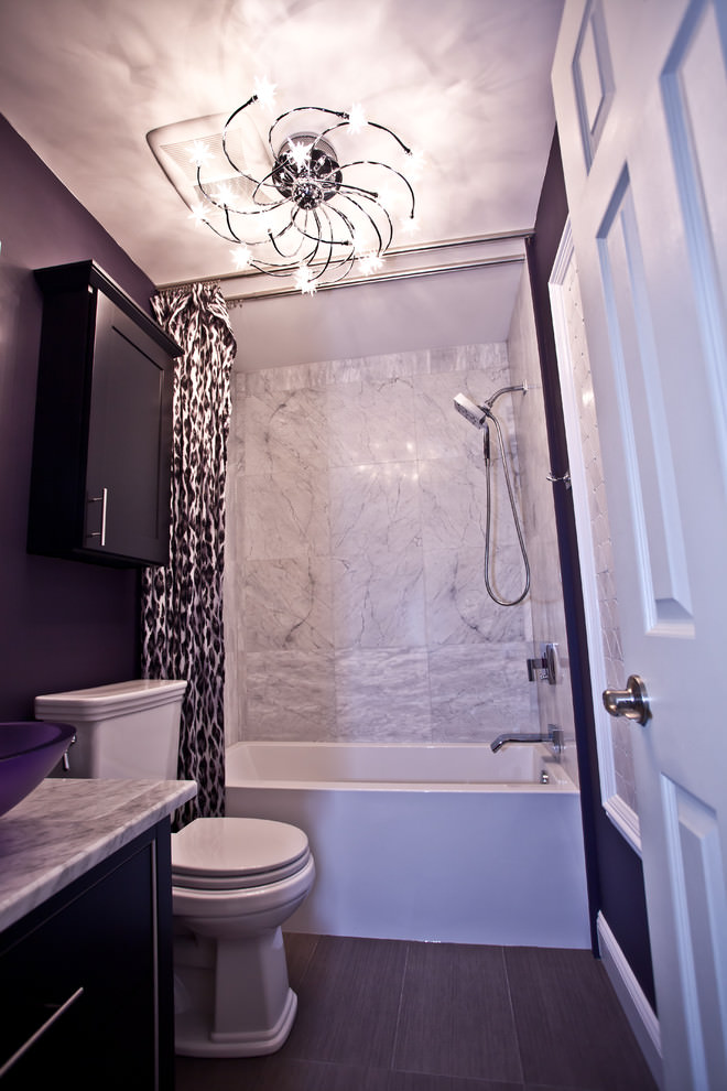 chic purple bathroom design