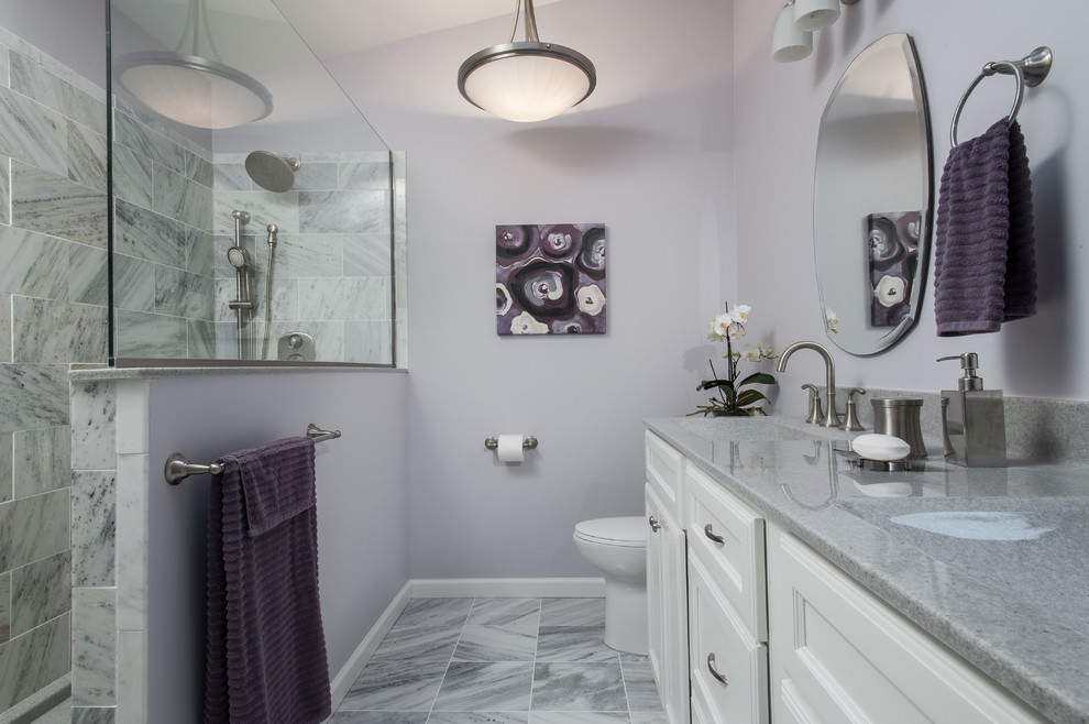 Sophisticated Purple Bathroom Design