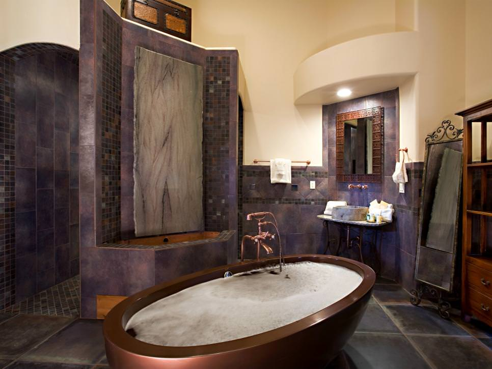 Master Purple Bathroom Design