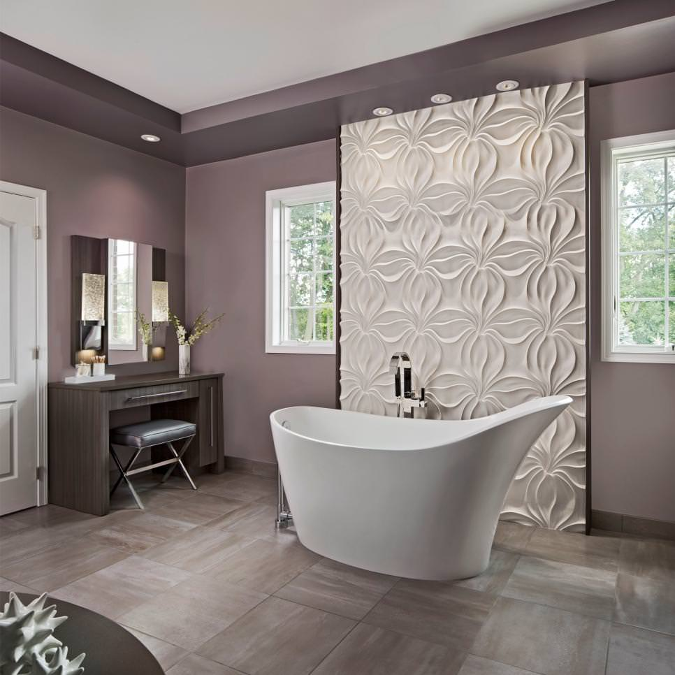 Stunning Purple Bathroom Design