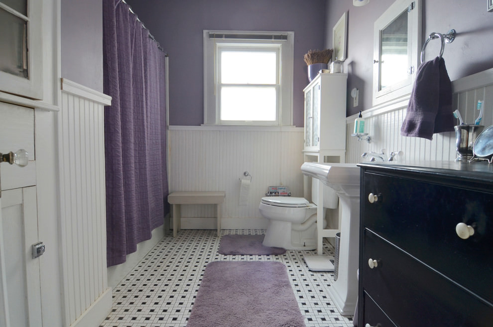 Amazing Purple Bathroom Design