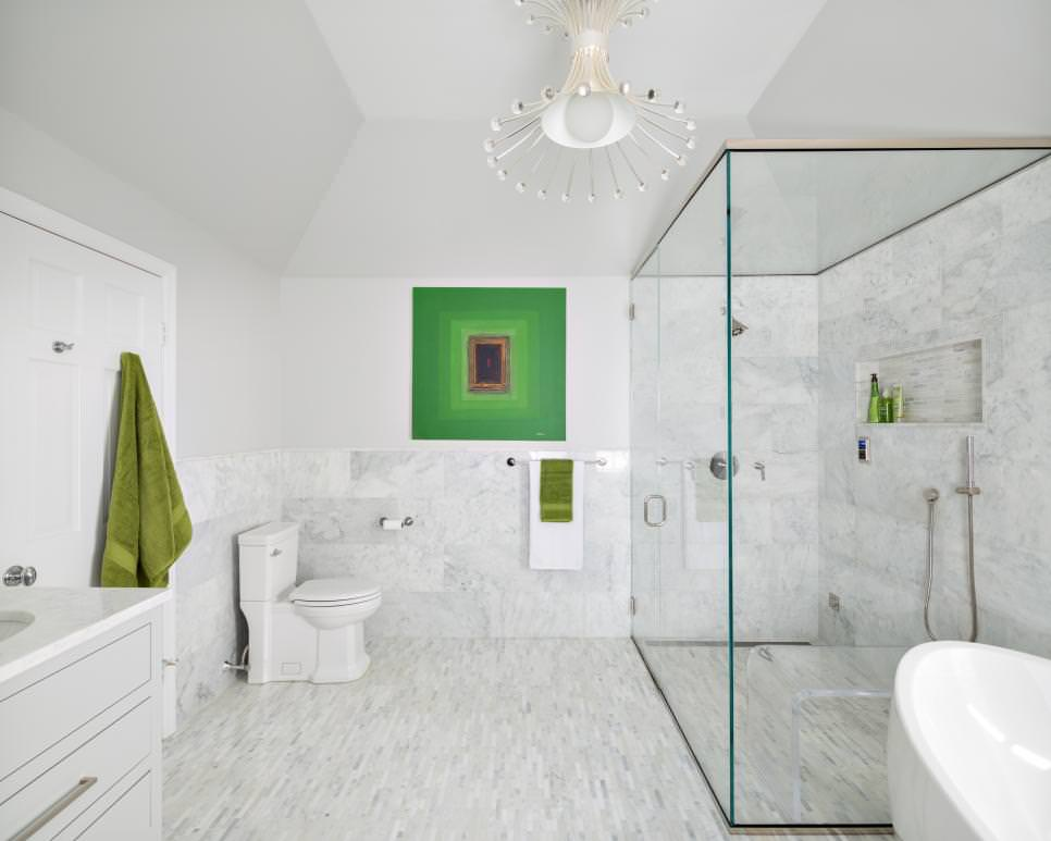 Accent White Bathroom Design