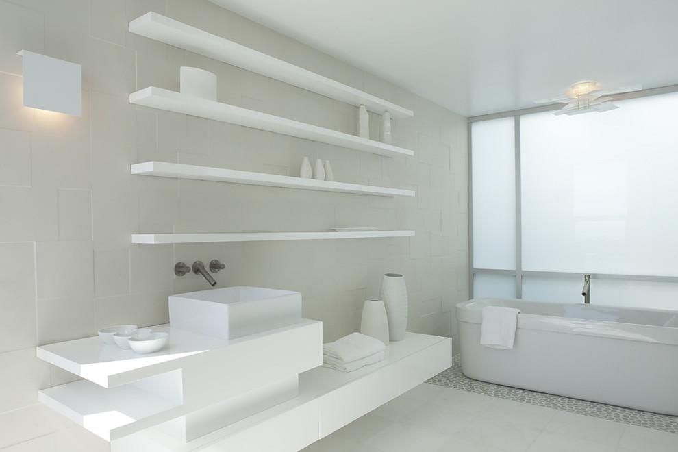 Plain White Bathroom Design
