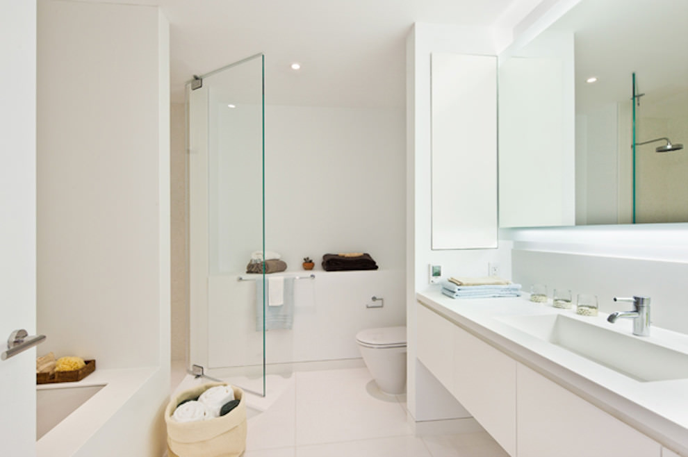 25 white bathroom designs bathroom designs design for Modern bathroom remodel