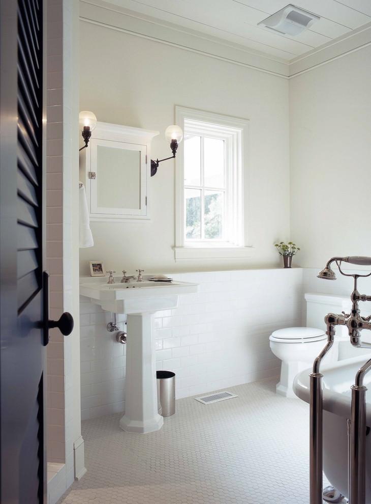 elegant white bathroom design
