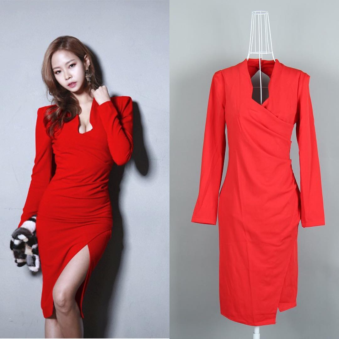 stylish red colored long sleeve
