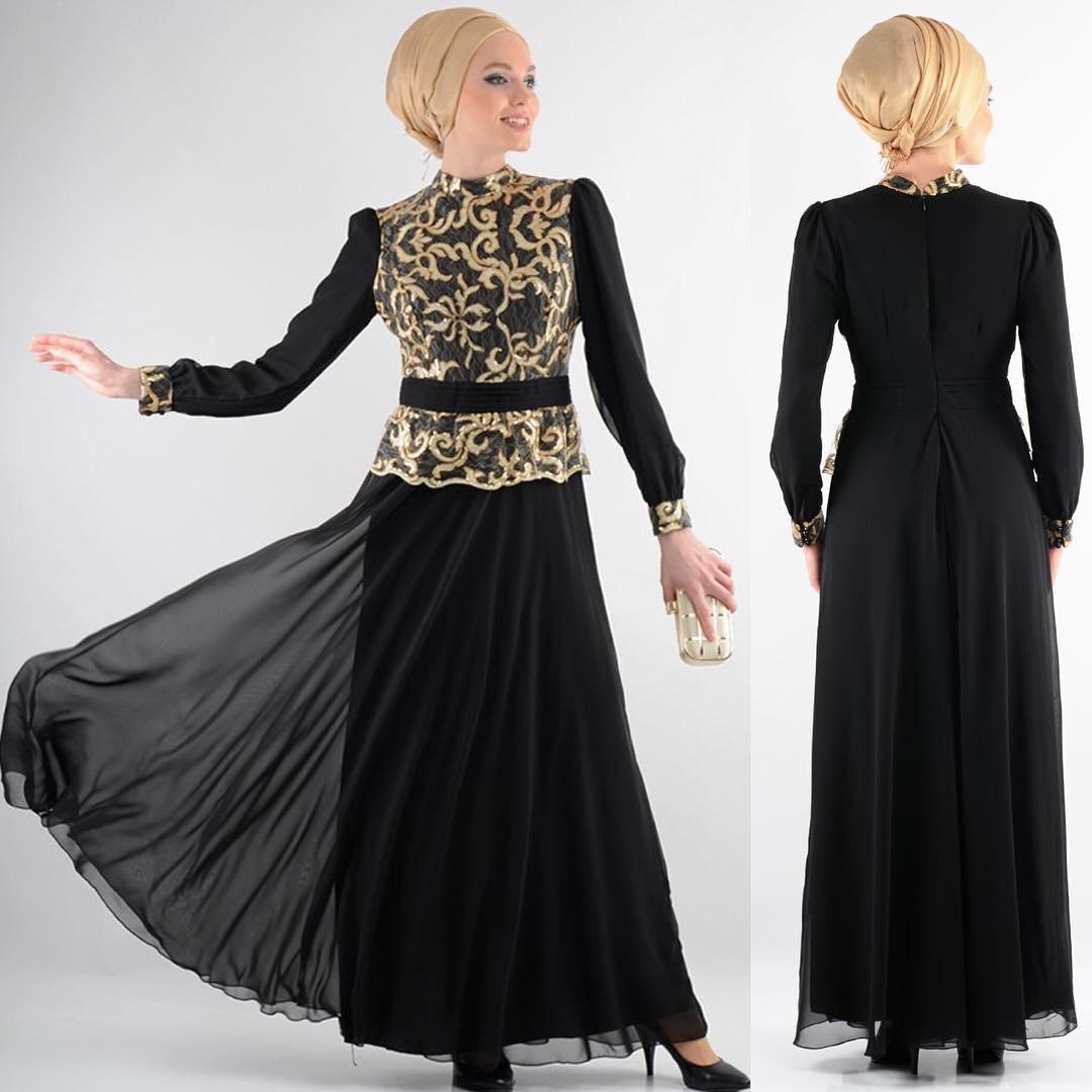 black colored floral dress