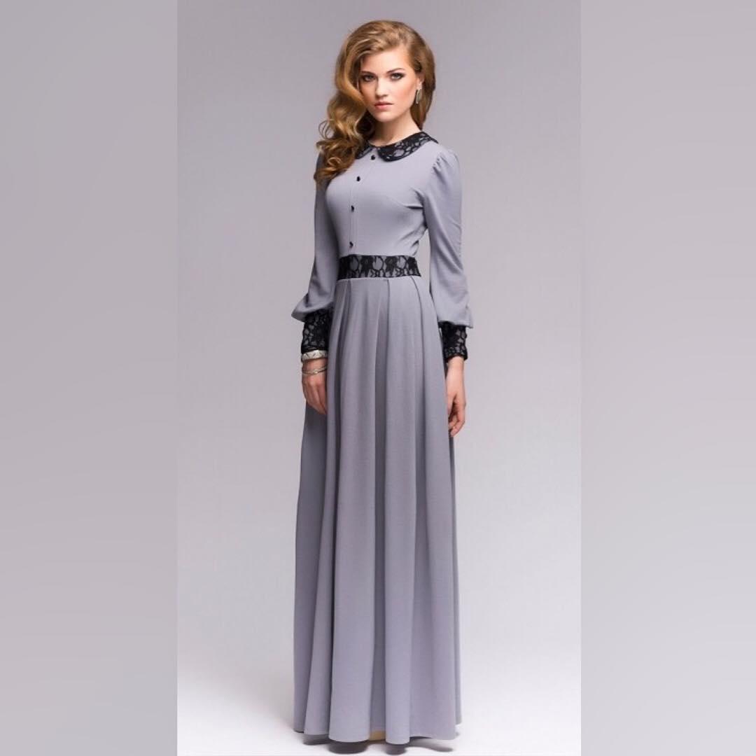 Retro Style Maxi Dress