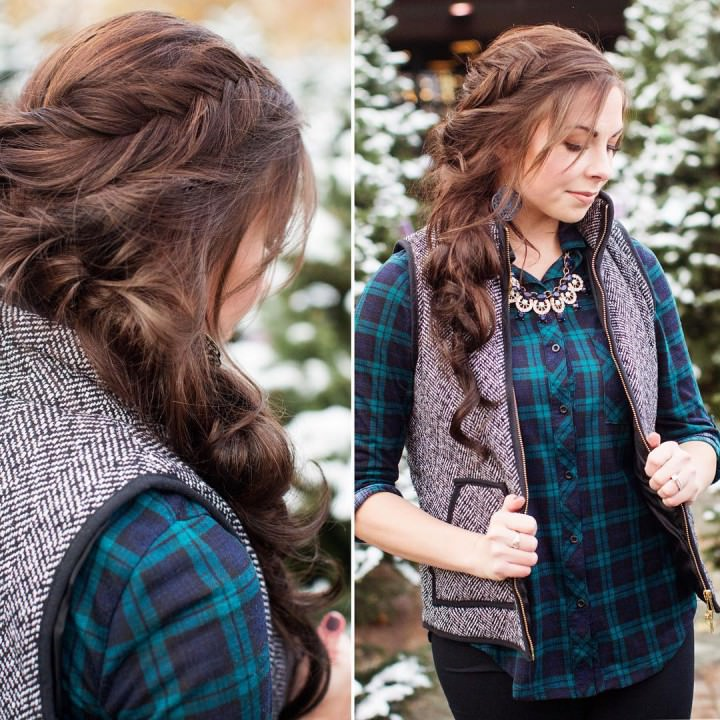 Cool sweeping side braid gives Beautiful look