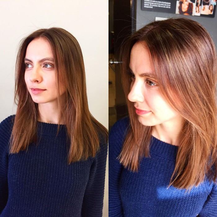 Long Bob Sleek Hair with Texture
