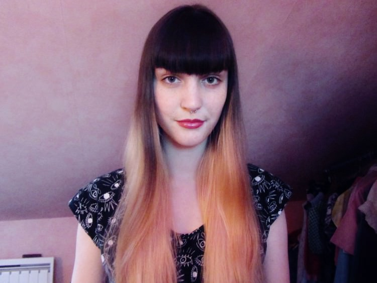 Long Sleek hair with bangs