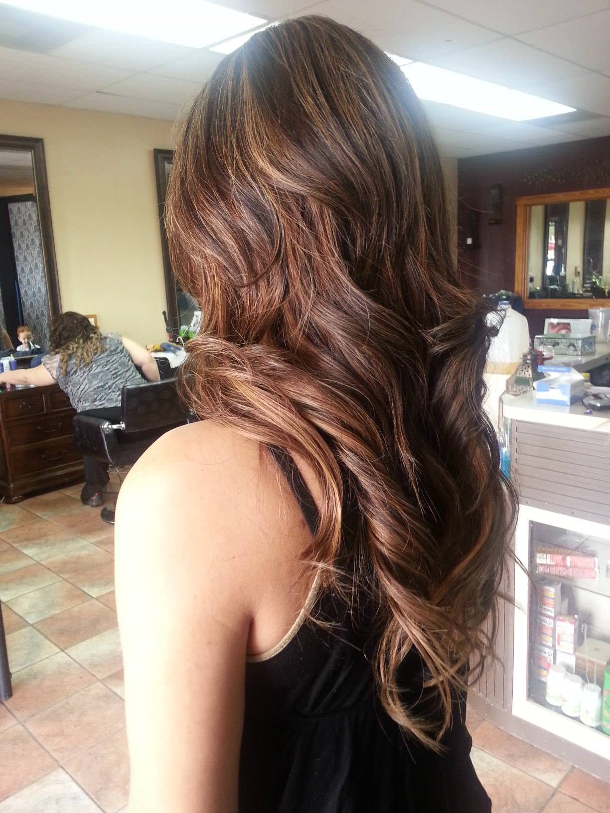 ombre touch long hair