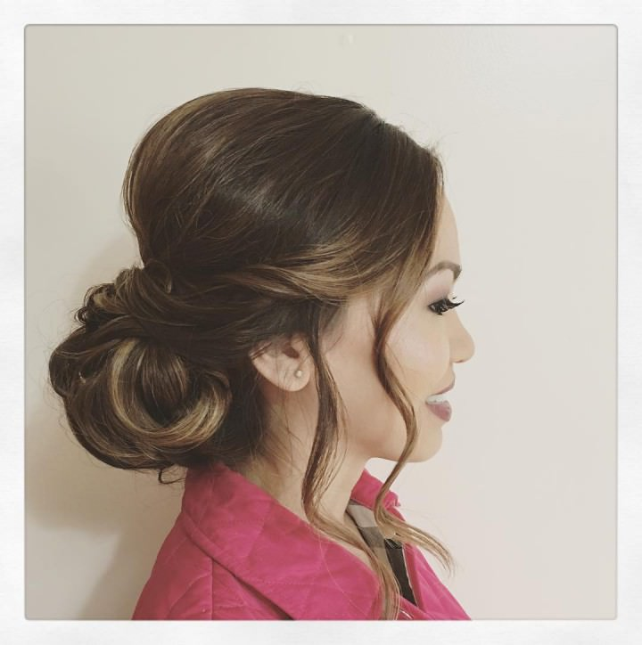 low bun is a classic look