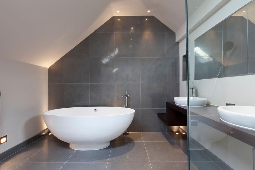 classic grey bathroom design