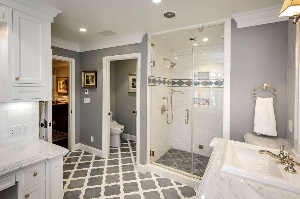 24 grey bathroom designs bathroom designs design for Bathroom ideas gray tile