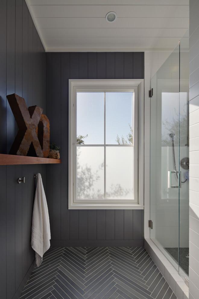 Custom Grey Bathroom Design