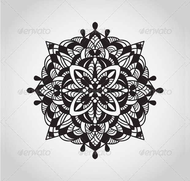 black circle pattern